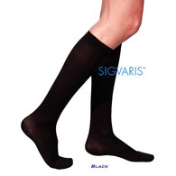 SIGVARIS 233CWG Womens Cotton Calf High Socks w/ Grip Top-30-40 mmHg