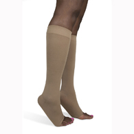 SIGVARIS 843C 30-40 mmHg Soft Opaque Knee High-Open Toe